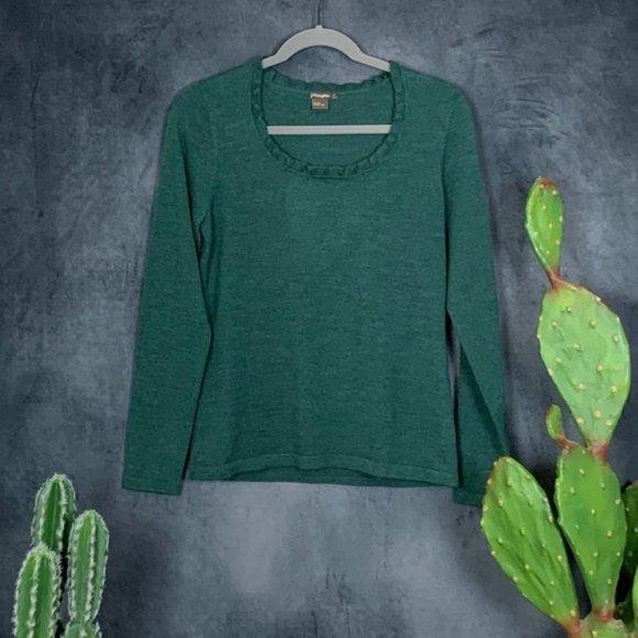 CLEARANCE J. McLaughlin Green Merino Sweater S